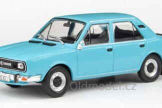 Model autíčka Škoda 120L (1982) 1:43 - Modrá Světlá
