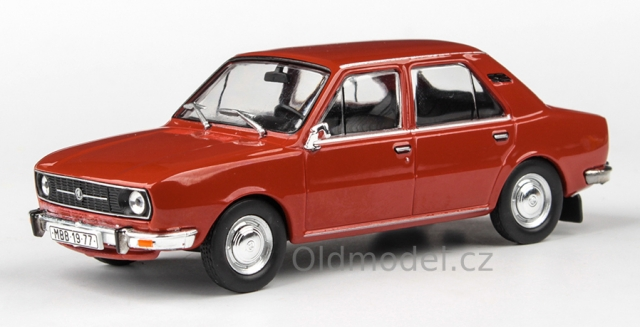 Model autíčka Škoda 105L (1977) 1:43 - Červená Paprika