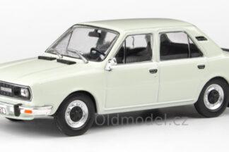 Model autíčka Škoda 120L (1982) 1:43 - Bílá ledová