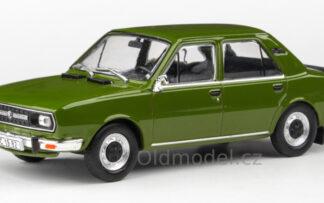 Model autíčka Škoda 120L (1982) 1:43 - Zelená Olivová
