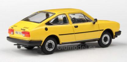 Model autíčka Škoda Garde v měřítku 1:43 , (Žlutá sluneční)
