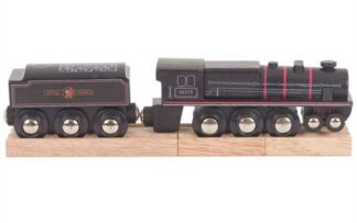 Bigjigs Rail Dřevěná replika lokomotivy Black 5 engine