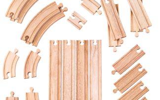 Bigjigs Rail Dřevěné koleje set 24 dílů