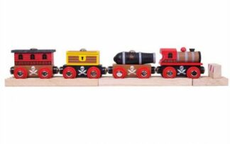 Bigjigs Rail Pirátský vlak + 3 koleje