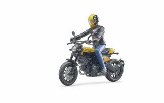 Bruder BWORLD Motocykl Ducati Scrambler s jezdcem měřítko:1:16