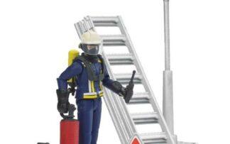 Bruder Figurka hasič + žebřík + příslušenství