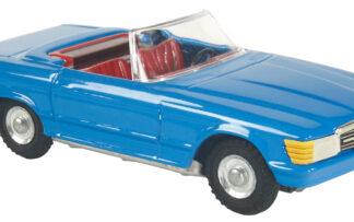 Mercedes cabrio Modrá