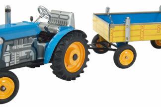 Traktor ZETOR svalníkem – kovové disky kol Modrá
