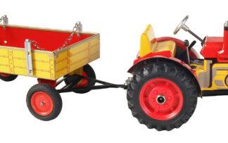 Traktor ZETOR  svalníkem – plastové disky kol Červená