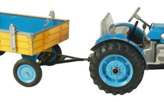 Traktor ZETOR  svalníkem – plastové disky kol Modrá