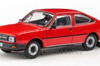 Model autíčka Škoda Garde v měřítku 1:43 , Červená
