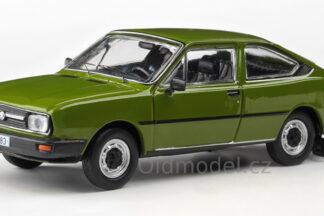 Model autíčka Škoda Garde v měřítku 1:43 , Zelená Olivová