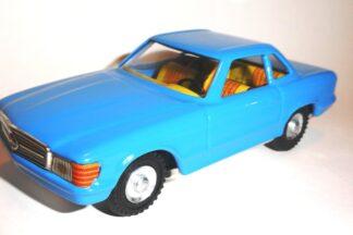 Mercedes cupe modrý