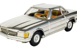 Mercedes cupe stříbrný