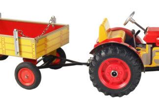 Traktor ZETOR  svalníkem červený – plastové disky kol