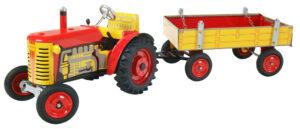 Traktor ZETOR svalníkem - červený