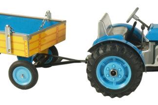 Traktor ZETOR  svalníkem modrý – plastové disky kol