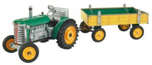Traktor ZETOR svalníkem - zelený