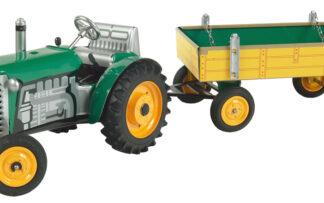 Traktor ZETOR svalníkem - zelený – kovové disky kol
