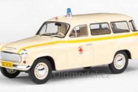 Modely autíček Škoda 1202 (1964) 1:43 - Sanitka - ZS Praha 155