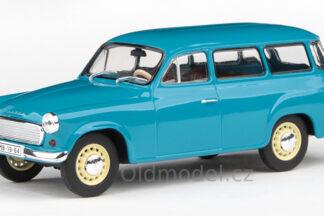 Model autíčka Škoda 1202 v měřítku 1:43 , (1964) - Tyrkysová Tmavá