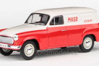 Model autíčka Škoda 1202 v měřítku 1:43 , (1964) – Maso-uzeniny