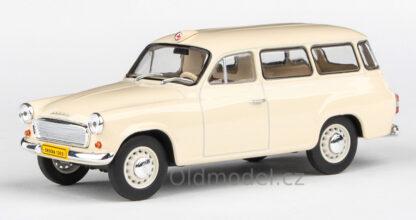 Model autíčka Škoda 1202 v měřítku 1:43 , (1965) - Sanitka