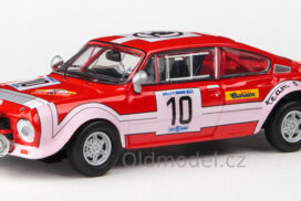 Modely autíček Škoda 200RS (1974) 1:43 - Rallye Škoda 1974 #10 Šedivý - Janeček