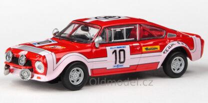 Model autíčka Škoda 200RS (1974) 1:43 - Rallye Škoda 1974 #10 Šedivý - Janeček