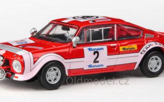 Model autíčka Škoda 200RS (1974) 1:43 - Barum Rallye 1974 #2 Horsák - Motal
