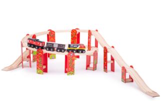 Bigjigs Rail Víceúrovňový set kolejí