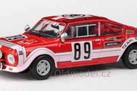 Model autíčka Škoda 200RS (1974) 1:43 - Rallye Šumava 1975 #89 Šedivý - Janeček