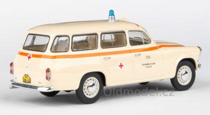 Model autíčka Škoda 1202 v měřítku 1:43 , (1964) - Sanitka, ZS Praha 134