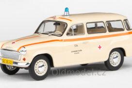 Modely autíček Škoda 1202 (1964) 1:43 - Sanitka - ZS Praha 134
