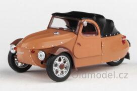 Model Velorex 16/350 (1966) 1:43 - Béžová/Černá/Hnědá