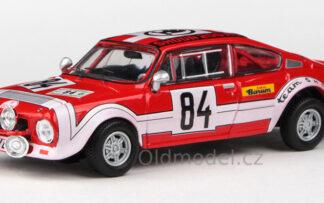 Model autíčka Škoda 200RS (1974) 1:43 - Rallye Jeseníky 1974 #84 Šedivý - Janeček