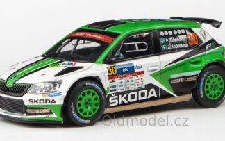 Model autíčka - Škoda Fabia III R5 (2015) 1:43 - Rally Guanajuato Mexico 2017 #30 Tidemand - Andersson