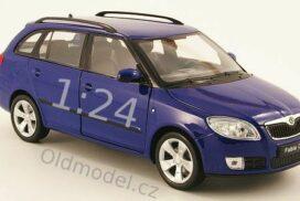 Model autíčka Škoda Fabia II Combi, 1:24, modrá