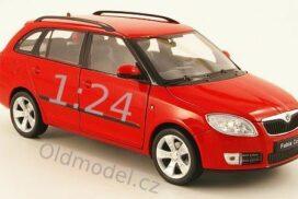 Model autíčka Škoda Fabia II Combi, 1:24, červená