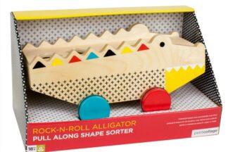 Petitcollage Dřevěný aligátor 2v1