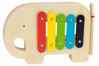 Petitcollage Dřevěný xylofon slon