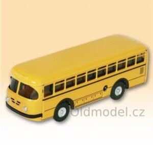 Plechový autobus na klíček