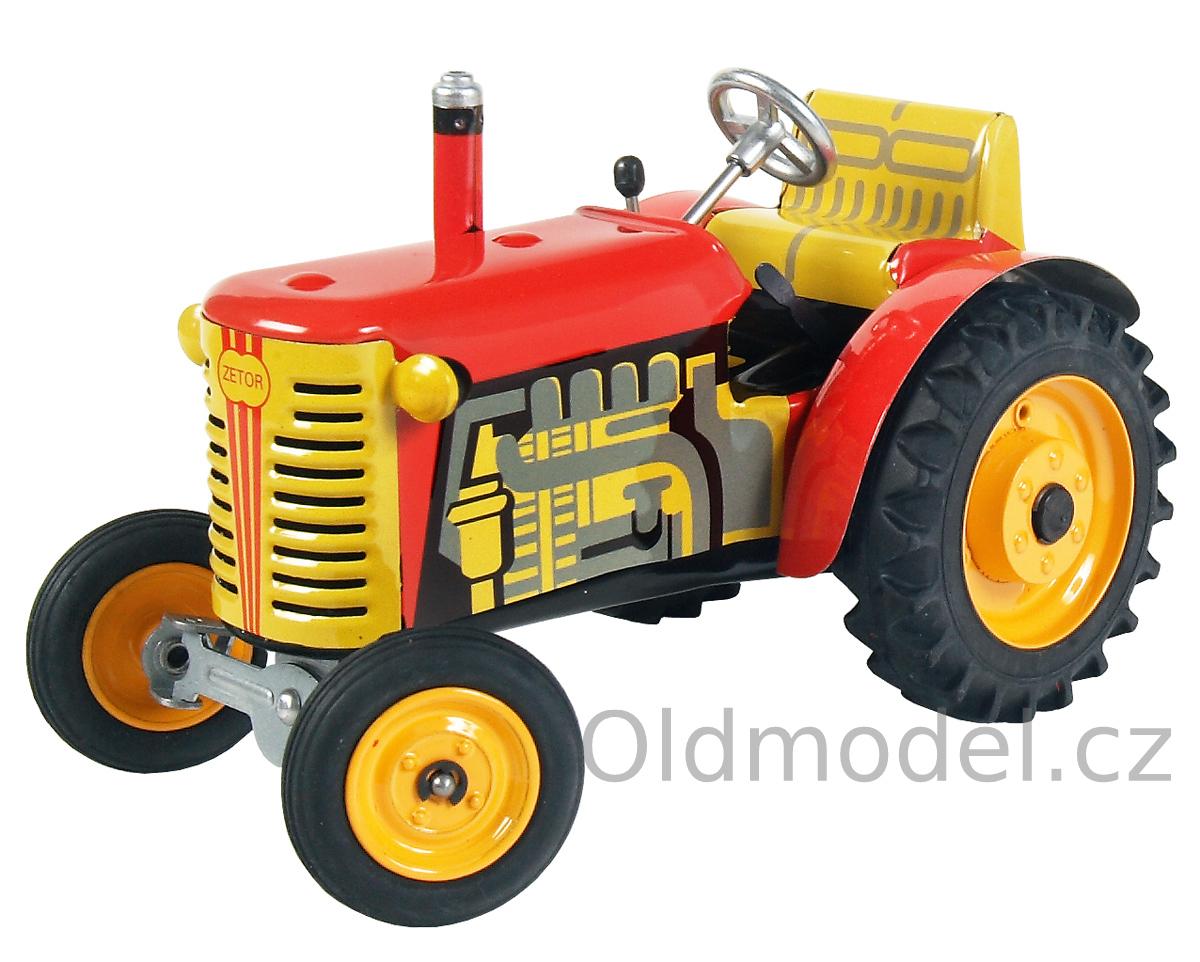 Plechová hračky Traktory na klíček